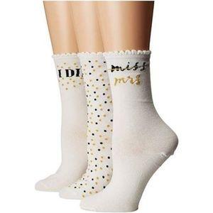 NWT Kate Spade Bridal I Do Crew Boxed Set Socks